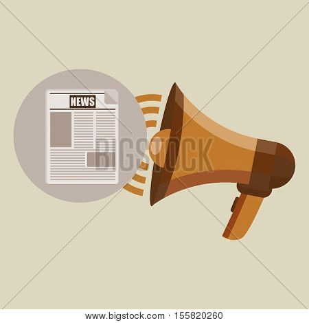 megaphone concept news design vector illustration eps 10