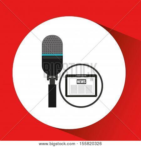 technology digital tablet microphone news vector illustration eps 10