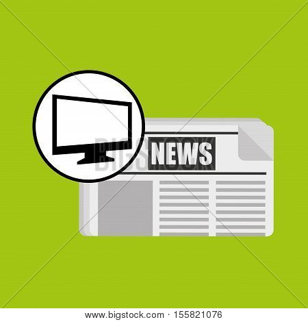 computer news journal graphic vector illustration eps 10