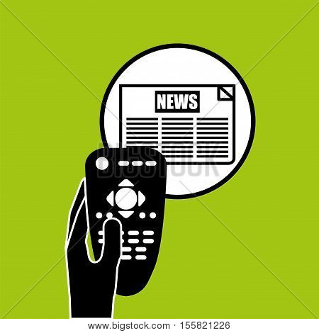 hand control tv news icon design vector illustration eps 10