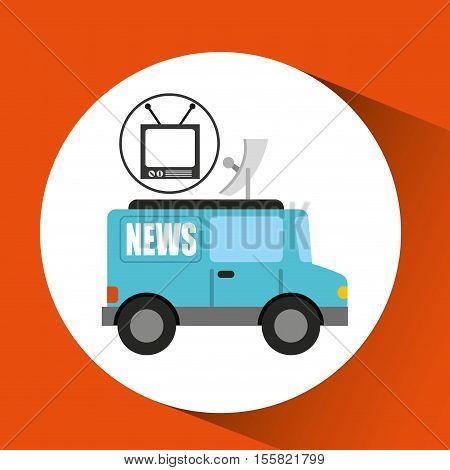 tv news car antenna design vector illustration eps 10