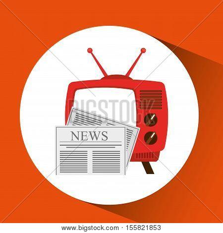 tv radio vintage news concept vector illustration eps 10