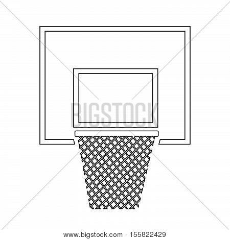 an images of Basketball backboard net icon illustration design