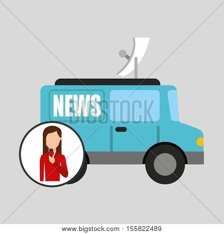 character woman reporter news graphic vector illustration eps 10