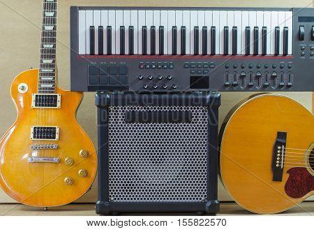 acoustic Electric guitar keyboard Guitar amplifier instruments series