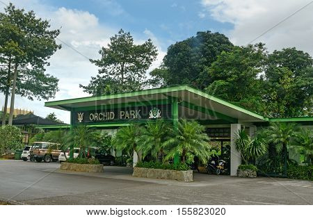Kuching Malaysia - Jan 05 2016: Orchid park. It has a collection of 75000 orchids from 65 epiphytic and terrestrial species and hybrid growing in open and shaded areas