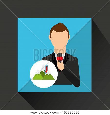 tv news weather reporter icon vector illustration eps 10