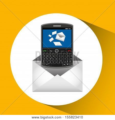 mobile cellphone email chat icon vector illustration eps 10