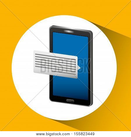 mobile cellphone sms email icon vector illustration eps 10