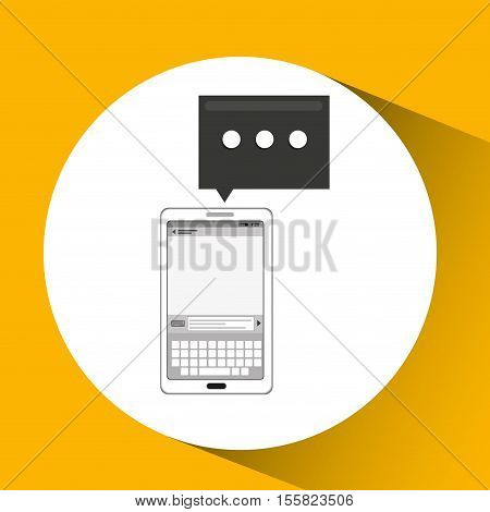 mobile cellphone email texting icon vector illustration eps 10
