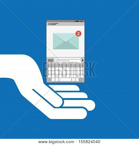 concept email social media icon vector illustration eps 10