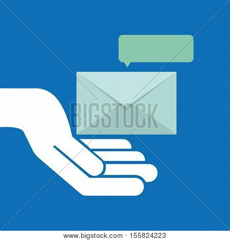 concept email message chat icon vector illustration eps 10