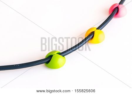 Yellow Green and Pink the Colorful wall stick wire clip