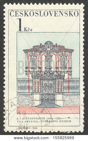 MOSCOW RUSSIA - CIRCA OCTOBER 2016: a stamp printed in CZECHOSLOVAKIA shows the Dvorak's Museum the series