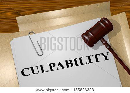 Culpability - Legal Concept