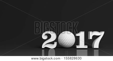 3D Rendering Golf Ball 2017