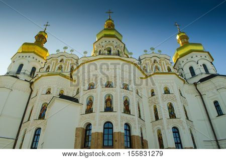 Assumption Cathedral of the Kiev-Pechersk Lavra in nature.