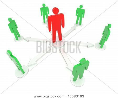 Symbol of leadership concept