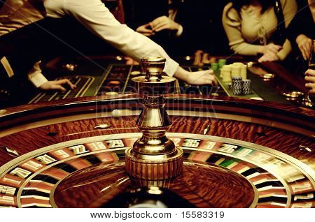 Casino mood with players