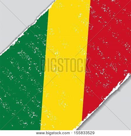 Congolese grunge flag diagonal background. Vector illustration.