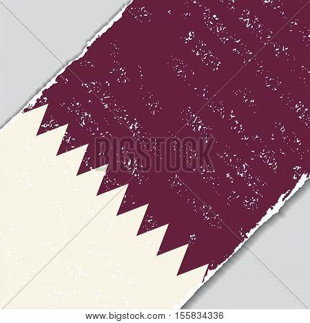 Qatari grunge flag diagonal background. Vector illustration.