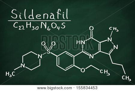 Structural Model Of Sildenafil