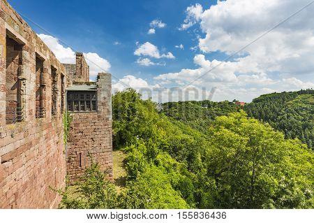 Nideggen Castle And Landscape In The Eifel, Germany