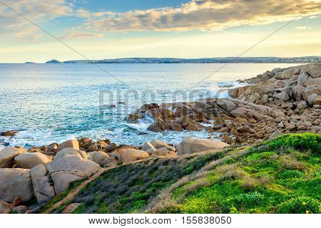 Picturesque coastal view at Port Elliot Horseshoe Bay South Australia