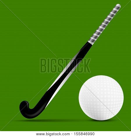 Stick and ball field hockey. Sports invertar