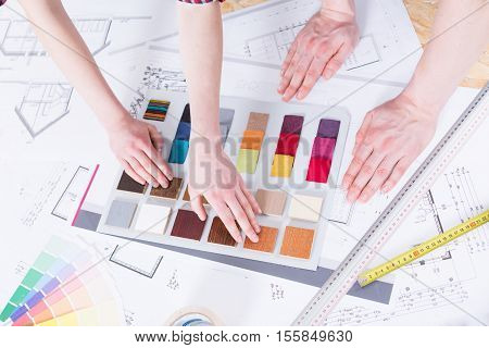 Color Picker On A Drafting Table