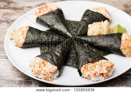 Japanese food  temaki sushi