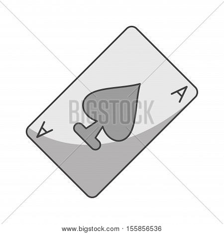 Poker card icon. Game win chance casino play and luck theme. Isolated design. Vector illustration