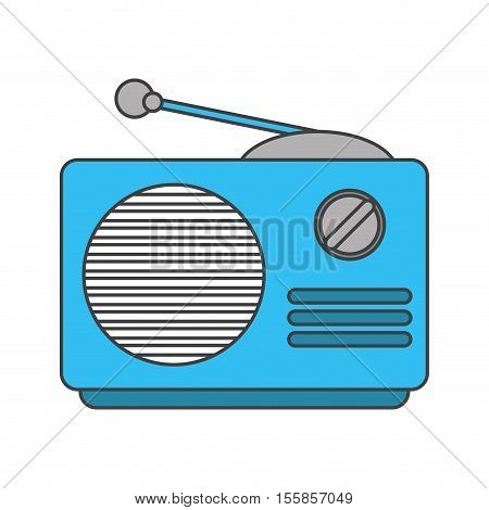 Radio device icon. music sound melody and musical theme. Isolated design. Vector illustration