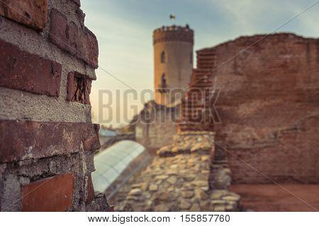 The Chindia Tower In Targoviste, Romania. Ancient Tower In Targoviste, Romania. The Chindia Tower Wa