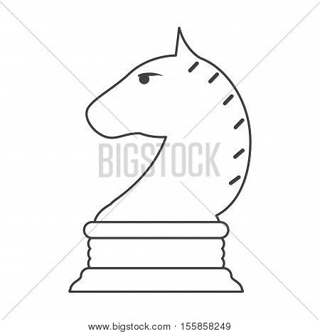 Chess horse icon. Game strategy competition leisure and hobby theme. Isolated design. Vector illustration