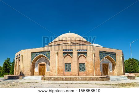 Chorsu, an old domed bazaar building constructed in the 15th century - Samarkand, Uzbekistan