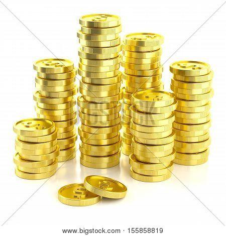 Stack Golden Dollar Coins