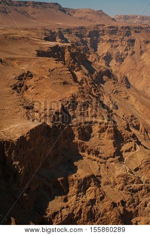View on Judaean Desert from fortress Masada