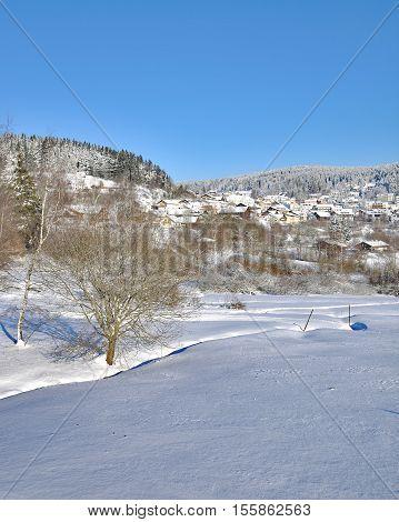 Village of Sankt Englmar in bavarian Forest,Bavaria,Germany