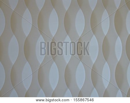 Whire Curved Curtain Texture With Light