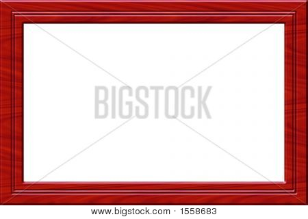 Red Wooden Frame
