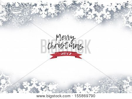 Christmas Holiday Winter Background With Shadows Snowflakes And Text