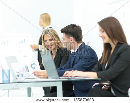 Successful busines team  in an modern office