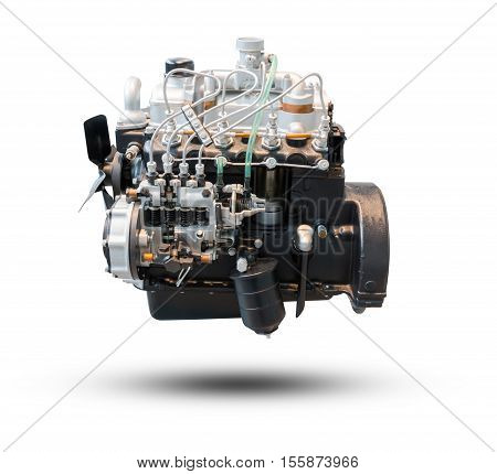 Car Engine Part Isolated On White Background.