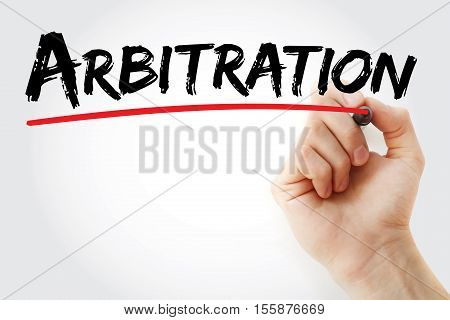 Hand Writing Arbitration With Marker