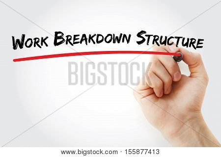 Hand Writing Work Breakdown Structure