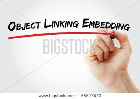 Hand Writing Object Linking And Embedding