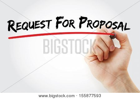 Hand Writing Request For Proposal With Marker