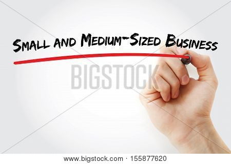 Hand Writing Small And Medium-sized Business