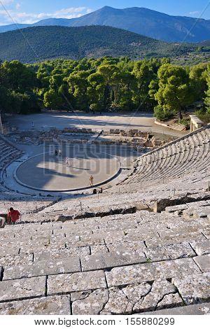 Ancient Theater Epidavros, Argolida, Greece